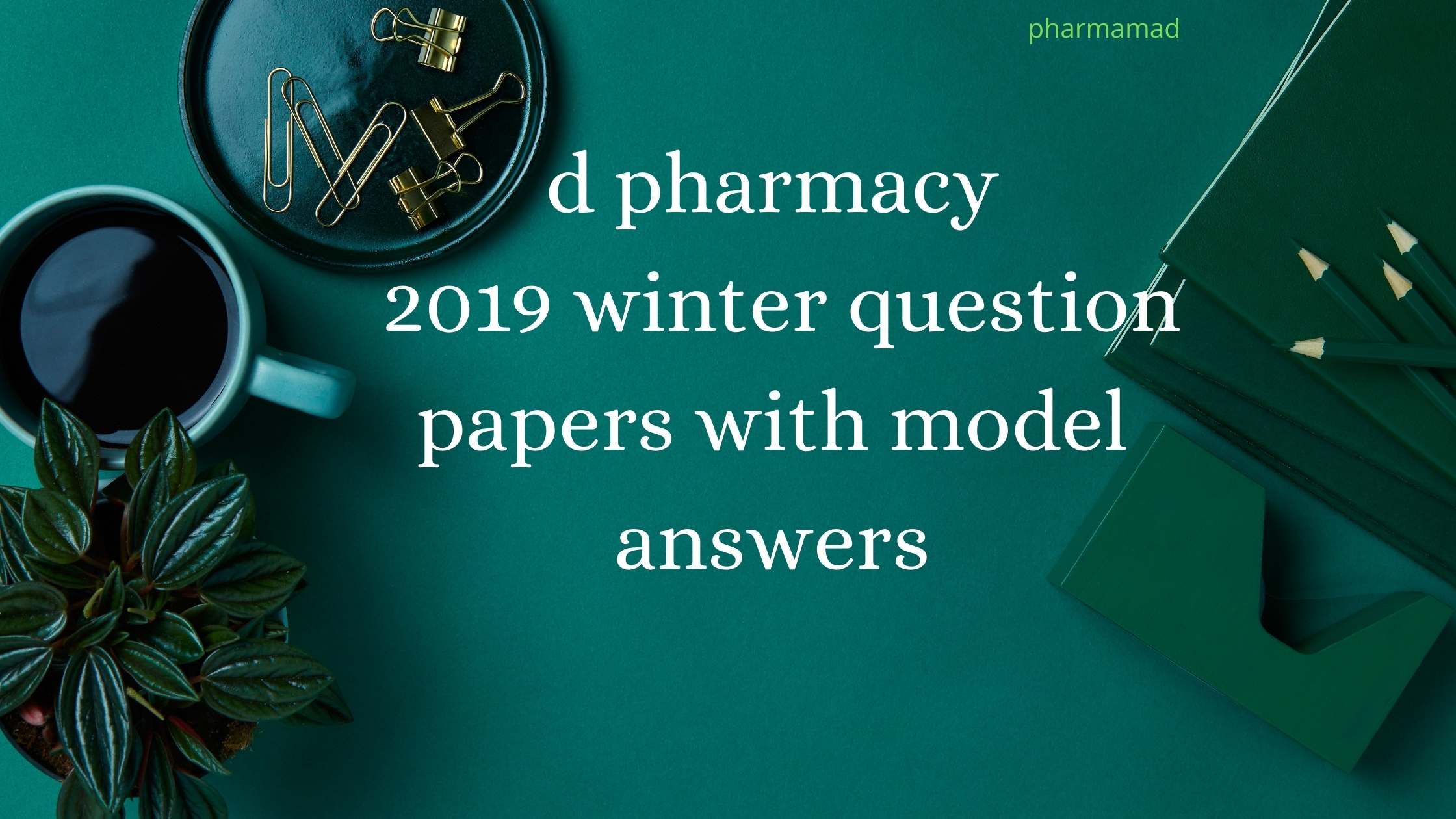D Pharmacy 2019 Winter Second Year Question Papers